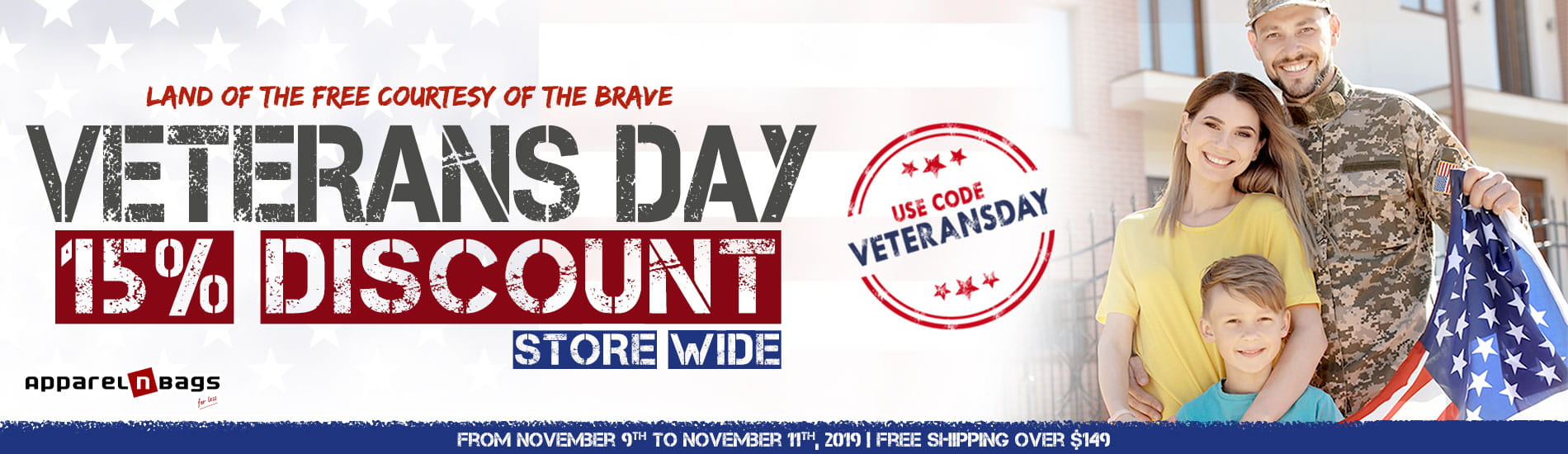 Veterans Day Sale 2019