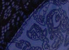 Blue Cobalt Outlined Floral