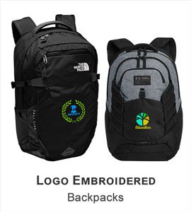 Logo Embroidered Backpacks