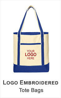 Logo Embroidered Tote Bags