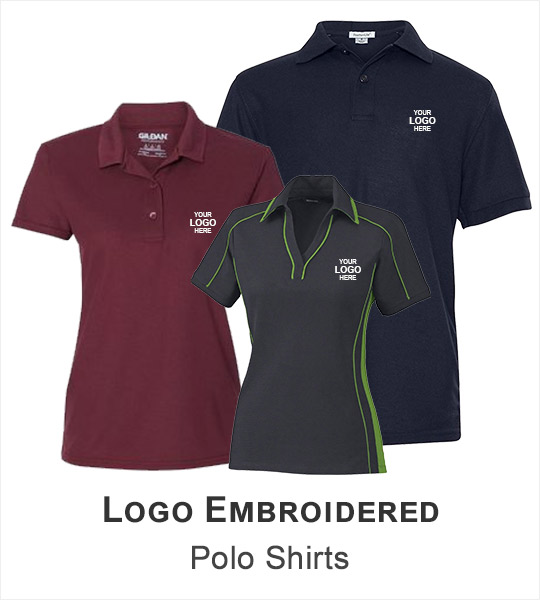 Logo Embroidered Polo Shirts
