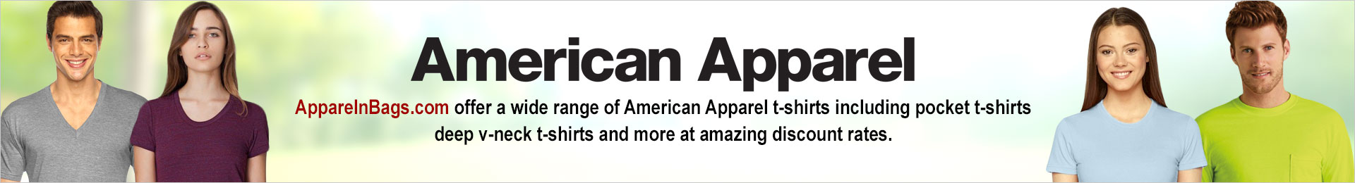 American Apparel Wholesale T Shirts