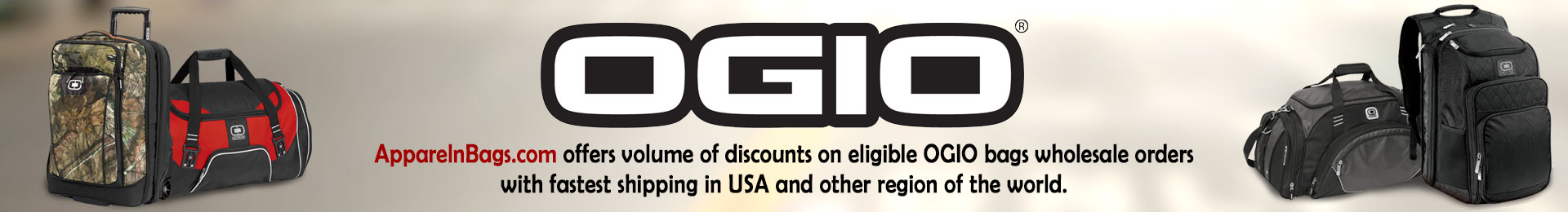Custom Embroidered Ogio Bags, Backpacks & Duffel Bags