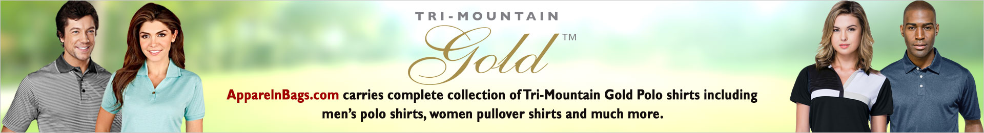Tri-Mountain Gold Polo And Sports Shirts