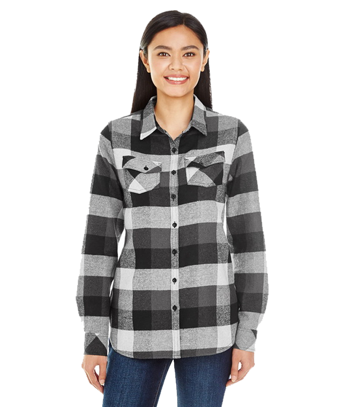 Burnside 5222 Ladies Plaid Pattern Woven