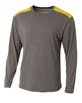 A4 N3101 Color Block Long Sleeve T-Shirt