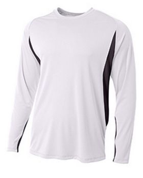 A4 N3183 Mens Long Sleeve Color Block T-Shirt
