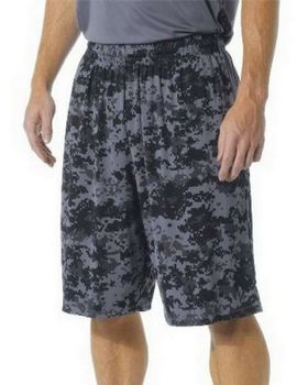 A4 N5322 Adult Printed Camo Performance Short