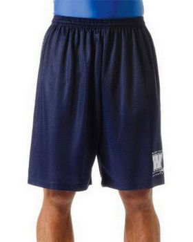 A4 NM5019 Adult Utility 9 Inch Mesh Shorts
