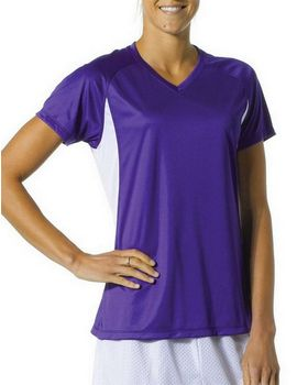 A4 NW3223 Women's Color Blocked Performance V-Neck