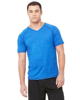 Alo Sport M1105 Mens Performance Triblend Short-Sleeve V-Neck T-Shirt