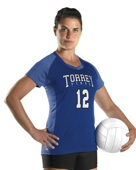 Alleson Athletic A00234 Girl's Dig Short Sleeve Volleyball Jersey