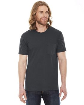 American Apparel 2406W Unisex Fine Jersey Pocket T-Shirt at ApparelnBags.com