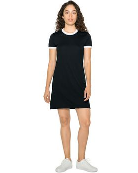 American Apparel BB3274W Ladies Poly-Cotton Ringer T-Shirt Dress