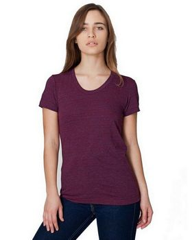 American Apparel TR301 Ladies Triblend Short Sleeve Track T Shirt