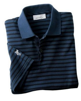 Ashworth 2048 Men's Dual Tone Pique Stripe Polo