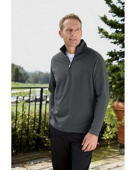 Ashworth 4019 Mens French Terry Half-Zip Pullover