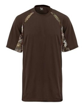 Badger 4144 Short Sleeve 2 Tone Performance Tee