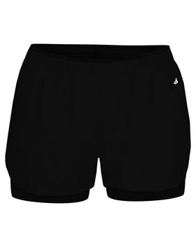 Badger 6150 Womens Double Up Shorts - Shop at ApparelnBags.com