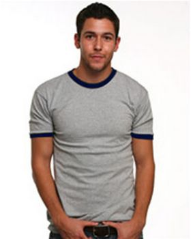 Bayside 1800 Ringer Tee - Shop at ApparelnBags.com