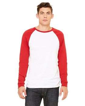 Bella + Canvas 3000C Men's Jersey Long-Sleeve Baseball T-Shirt
