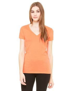 Bella + Canvas 6035 Ladies Jersey Deep V Neck Tee