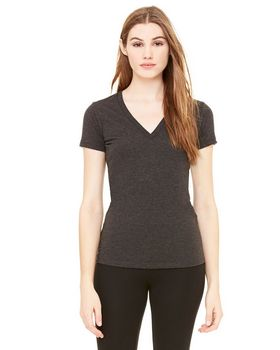 Bella + Canvas 8435 Women's Tri-Blend Deep V-Neck