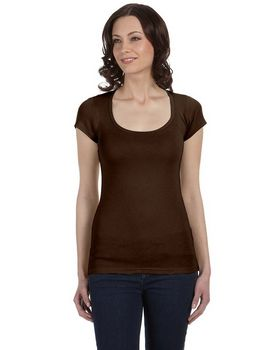 Bella + Canvas 8703 Sheer Rib Scoop Neck Tee