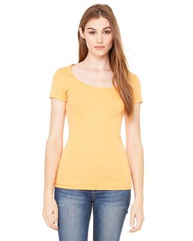 Bella + Canvas B8703 Ladies  Sheer Mini Rib Scoop Neck T-Shirt