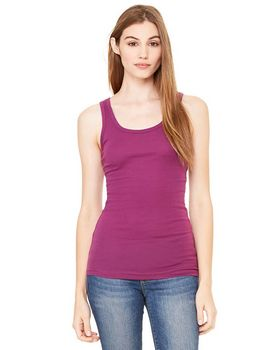Bella + Canvas B8780 Ladies Rachel Sheer Rib Longer-Length Tank