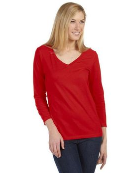 Bella + Canvas 6425 Ladies Missy 3/4-Sleeve V-Neck T-Shirt