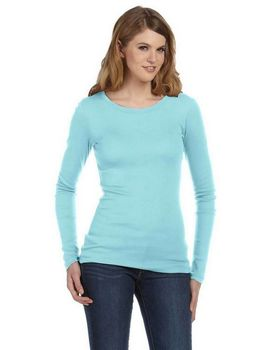 Bella + Canvas 8751 Ladies Sophie Sheer Rib Long-Sleeve T-Shirt