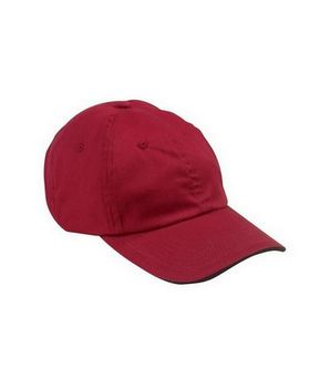 Big Accessories BX001S 6-Panel Cap with Sandwich Bill