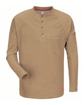 Bulwark QT20L Long Sleeve Henley Long Sizes