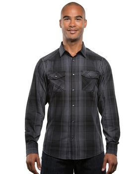 Burnside B8206 Mens Long-Sleeve Western Plaid Shirt