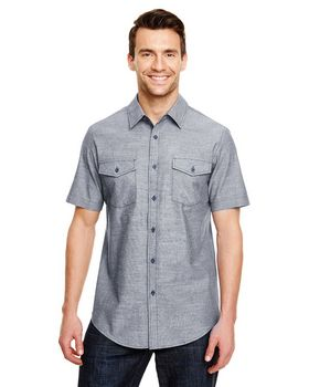 Burnside B9255 Mens Chambray Woven Shirt - Shop at ApparelnBags.com
