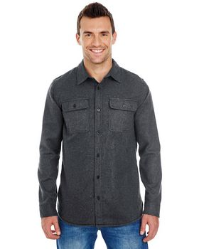 Burnside BU8200 Mens Solid Flannel - Shop at ApparelnBags.com
