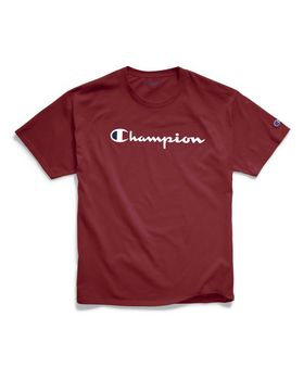 Champion GT23H Y07718 Mens Classic Jersey Tee; Script Logo