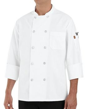 Chef Designs 0423 100% Polyester Ten Pearl Button Chef Coat