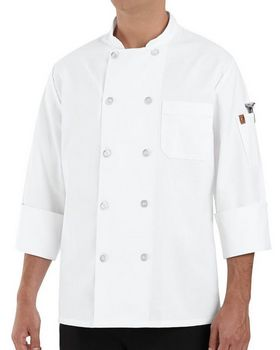 Chef Designs 0423L Ten Pearl Button Chef Coat Long Sizes
