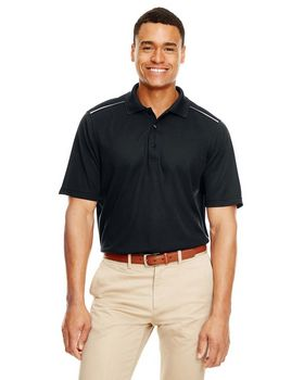Core365 88181R Mens Radiant Reflective Piping Performance Piqué Polo Shirt