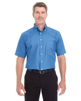Devon & Jones D620S Mens Crown Collection Solid Broadcloth Short-Sleeve Shirt