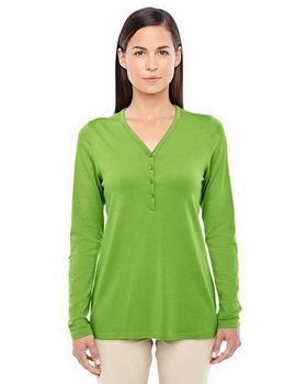 Devon & Jones DP186W Ladies Perfect Fit Y-Placket Convertible Sleeve Knit Top
