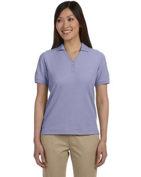 Devon & Jones D100W Women's Pima Pique Short-Sleeve Y-Collar Polo