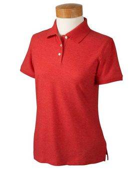Devon & Jones D153WGR Ladies Recycled Pima Melange Pique Polo