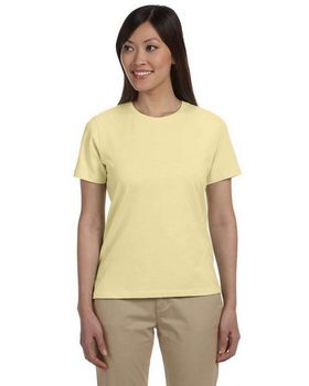 Devon & Jones Pink DP155W Stretch Jersey T Shirt