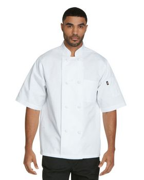 Dickies Chef DC48 Unisex Classic Knot Button Short Sleeve Chef Coat