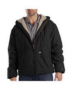 Dickies TJ350T Men's Sanded Duck Sherpa Lined Hooded Jacket