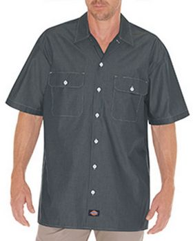 Dickies WS509 Unisex Relaxed Fit Short-Sleeve Chambray Shirt