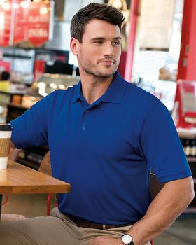 FeatherLite Mens 0100 Value Polyester Short Sleeve Sport Polo Shirt